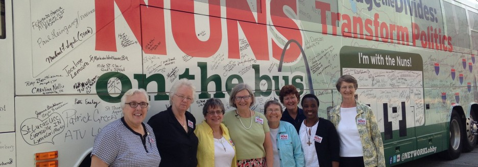 Nuns on the Bus Tour stops at STA!