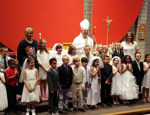 First Communion with Archbishop Tobin