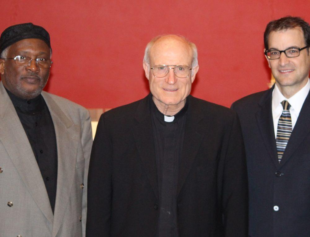 "Multi-Faith Prayer: Fr. Steve Schwab, Rabbi Brett Krichiver, Imam Michael ""Mikal"" Saahir"
